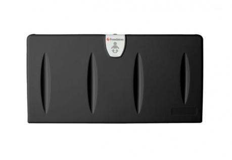 Sicherheitswickeltisch aus Kunststoff Horizontal Wandmontage Schwarz