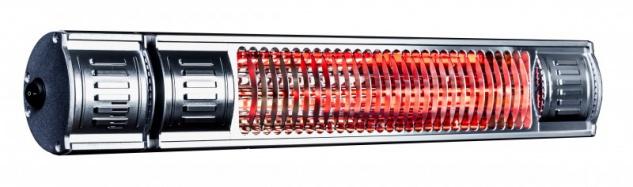 Infralogic Infrarot-Heizelement in Aluminium oder Schwarz zur Wandmontage 2000W