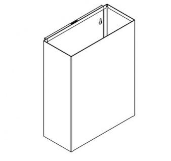 Franke Abfallbehälter RODX605 aus Chromnickelstahl zur Aufputzmontage - Vorschau 2