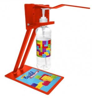 Desinfektionsstation für Kinder in Schule und Kindergarten mit Armhebel Tischmodell