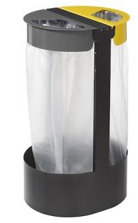 Rossignol Müllsackhalterung zum Aufstellen oder zur Befestigung 2 x 75 Liter