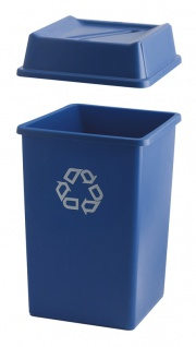 Styleline Container 132 Liter, Rubbermaid Blau, Recyclingsymbol