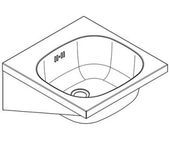 Franke Waschtisch Anima WT400A aus Chromnickelstahl zur Wandmontage - Vorschau 2