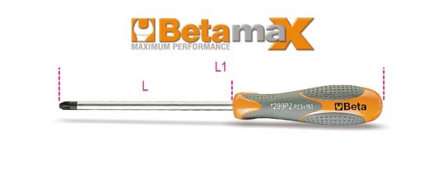 Beta Schraubendreher für Pozidriv®- und Supadriv®-Schrauben 1299PZ