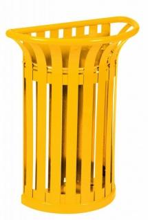 Rossignol Tulipe Abfallbehälter 35L aus rostfreiem Stahl zur Ständerbefestigung