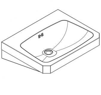 Franke Waschtisch WT600C aus der Linie Anima aus Edelstahl zur Wandmontage - Vorschau 2