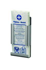 MediQo-line Hygienebeutelhalter zur Wandmontage erhältlich in Aluminium oder Edelstahl
