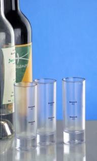 Kunststoff Stamperl hoch gefrostet 2cl /4cl SAN sehr robust und wiederverwendbar - Vorschau 3