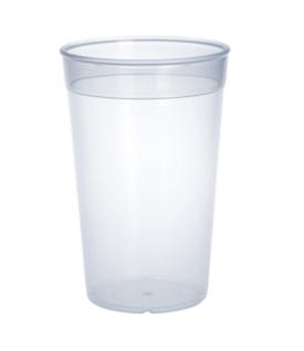 20er Set Kunststoff Mehrweg-Becher transparent 0, 2l PP wiederverwendbar stapelbar