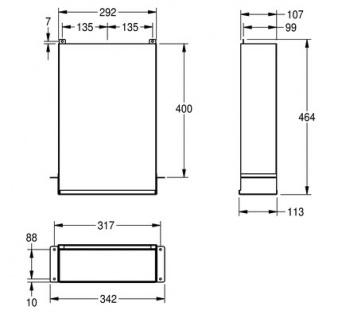 Franke Papierhandtuch Spender RODX600ME aus Edelstahl zur Wandmontage - Vorschau 3