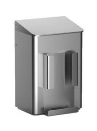 MediQo-line Hygiene Abfallbehälter 6 Liter zur Wandmontage aus Aluminium oder Edelstahl - Vorschau 3