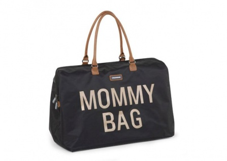Childhome Mommy Bag Gross Schwarz Gold