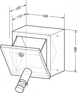 Wagner-EWAR Seifenspender 1000ml WP106 Edelstahl für Unterputzmontage - Vorschau 2
