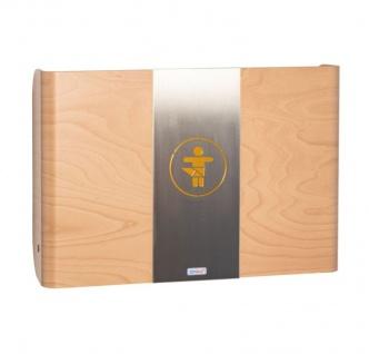 Wandwickeltisch aus Holz in der Farbe Buche mit Mittelteil aus Metall KAWAQ von Timkid