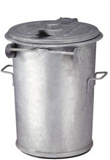 Stahlverzinkter feuerfester Abfallbehälter 90 Liter