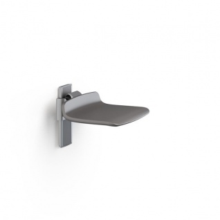 Pressalit hochklappbarer Duschstuhl in weiß oder anthrazitgrau, max. 300 kg