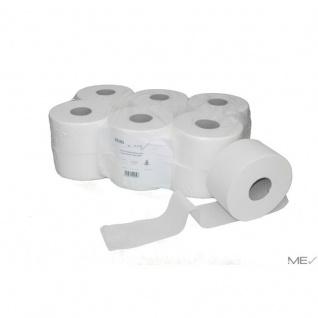 Jumbo Mini Toilettenpapier 12 Rollen - 140m 2 lagig - Zellstoff-weiß
