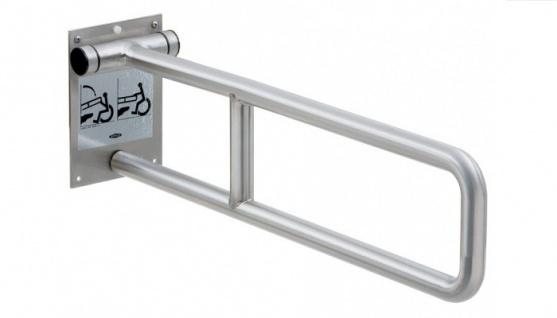 Bobrick Stützklappgriff aus Edelstahl für Badewanne, Dusche oder Toilettenbereich