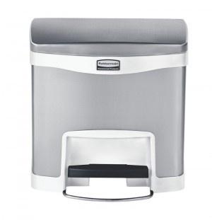 RUBBERMAID Slim Jim® Metall-Tretabfallbehälter mit Pedal an der Breitseite 15 L - Vorschau 3