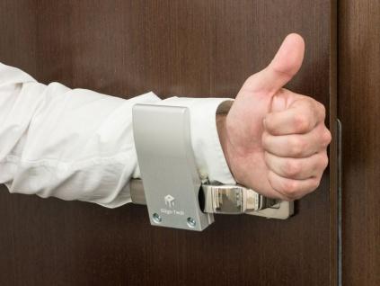 Premium Gligo-TechTürgriff-Aufsatz zum hygienischen Öffnen von Türen für gemeinsamen Räume