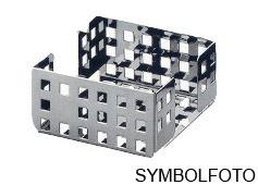 Graepel G-Line Pro Quadrotto Zettelbox aus Chromstahl, schwarz lackiert