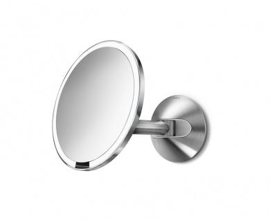 Sensor Wandspiegel (100-240V) verdrahtet, Simplehuman Edelstahl - Vorschau 1