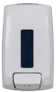 Seifenspender 1, 1 L aus Edeltshaltahl/ABS-Kunststoff mit Druckknopf und Schlüsselverriegelung