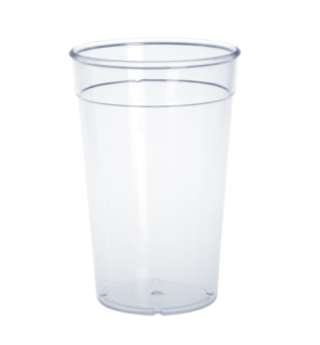 20er Set Kunststoff Mehrweg-Becher glasklar 0, 25l PC wiederverwendbar stapelbar