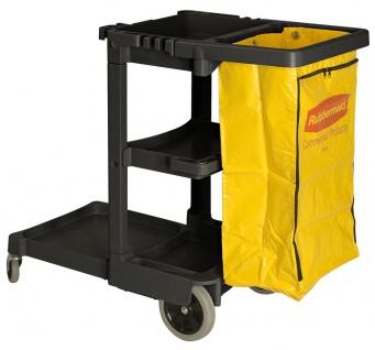 Rubbermaid Reinigungswagen mit gelben 75 liter Beutel