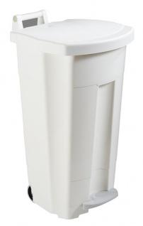 Rossignol Boogy fahrbarer Abfallbehälter 90 Liter mit Pedal und Transportgriff