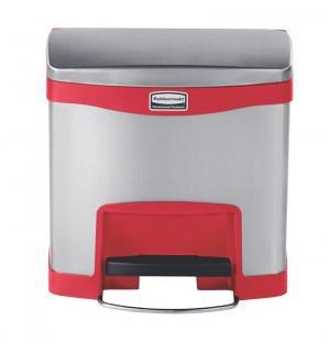 RUBBERMAID Slim Jim® Metall-Tretabfallbehälter mit Pedal an der Breitseite 15 L