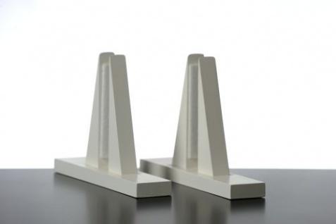 Elbo Therm Holzstandfüße 2 Stück aus Naturholz in weiß oder schwarz