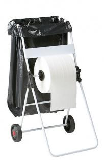 Rossignol Bobino fahrbarer Müllsackhalter mit Abwickelvorrichtung für Papier