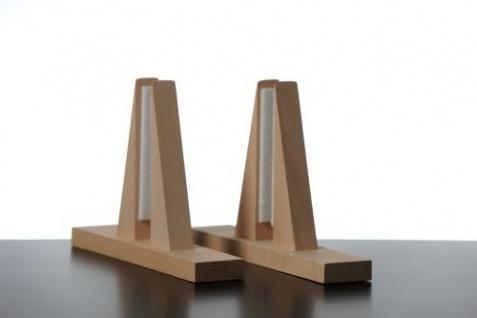Elbo Therm Holzstandfüße 2 Stück aus Naturholz in weiß oder schwarz - Vorschau 2