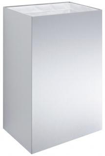 Wagner-EWAR Abfallbehälter 60l WP183 Edelstahl für Aufputzmontage