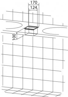 Wagner-EWAR Einwurfrahmen 170x170x100 WP145 Edelstahl für Untertischmontage - Vorschau 2