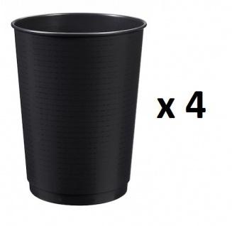 Set mit 4 x 40L Peps Papierkörben aus Polypropylen in Schwarz von Rossignol