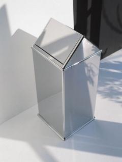 Graepel High Tech italienischer Mülleimer Move aus poliertem Edelstahl