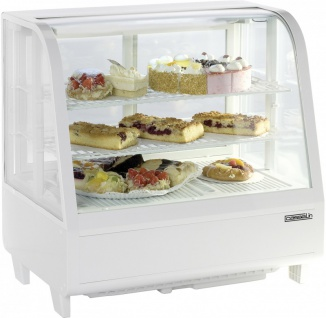 Casselin refrigerated display case 100l with double glazing and LED lighting 160W