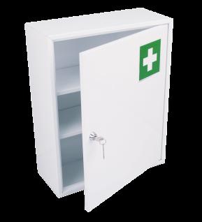 Medizinschrank aus Metall Weiss mit einer Tür zur Wandmontage