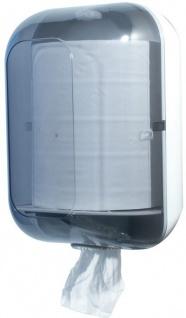 Marplast Papierhandtuchspender MP 725 aus Kunststoff in Transparent/Weiß
