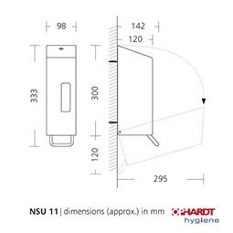 Ophardt SanTRAL classic NSU 11 Universalspender 1200ml aus geschliffenem Edelstahl - Vorschau 2