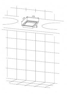 Wagner-EWAR Einwurfklappe 170x170x30 WP158-1 Edelstahl für Waschtischmontage - Vorschau 2