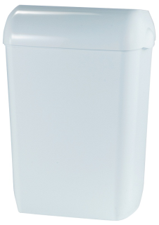 Metzger Abfallbehälter 45 Liter zur Wandmontage - in weiß oder silber (satiniert)