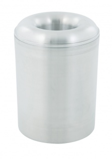 Selbstlöschender Papierkorb aus Aluminium 20 Liter Aluminium