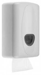 PlastiQline 2020 Toilettenpapierspender aus Kunststoff in Weiß zur Wandmontage