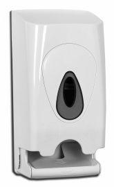 PlastiQline Toiletten Papier Spender für 2 Rollen aus weißem Kunststoff