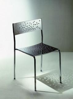 Graepel Tempesta hochwertiger Indoor Stuhl aus Edelstahl 1.4016 verchromt