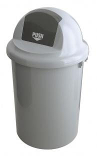 Abfallbehälter aus Kunststoff mit Klappdeckel, 90 Liter Grau