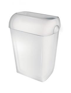 PlastiQline Abfallbehälter aus weißem Kunststoff freistehend oder zur Wandmontage